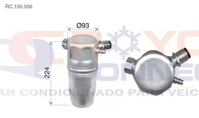 filtro secador acumulador ar condicionado gm omega r12 r134a