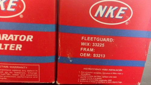 filtro separador agua marino  racor s3213, 33769 nke ns33225