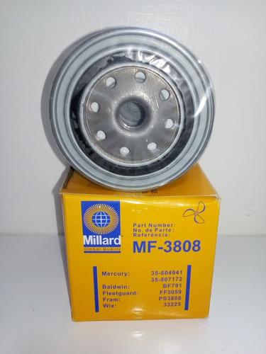 filtro separador de combustible millard 3808 motores marinos