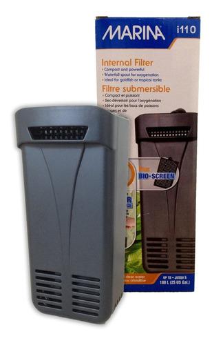 filtro silencioso premium marina i110 acuarios 110l + envío