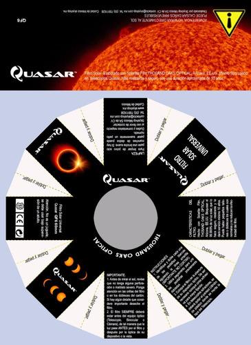 filtro solar para camaras y telescopios de 50 a 60 mm