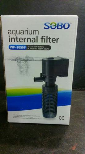 filtro sumergible para acuario 400 litros hora