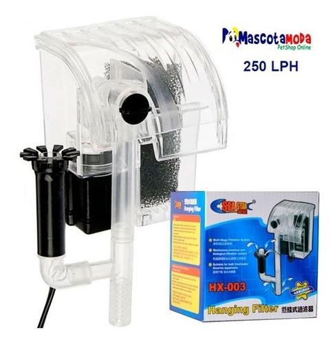 filtro tipo cascada 250lph doble entrada acuarios peceras