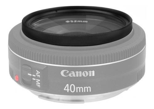 filtro ultravioleta 52mm uv lente nikon canon