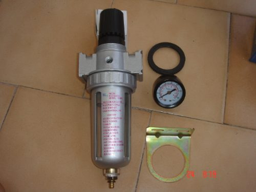 filtro universal acople de 3/8 con regulador y reloj