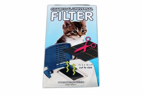 filtro universal de carbón para areneros medidas 16 x15,5 cm