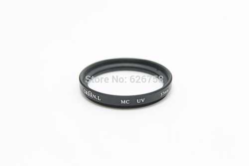 filtro uv green l 37 mm protección lente +estuche