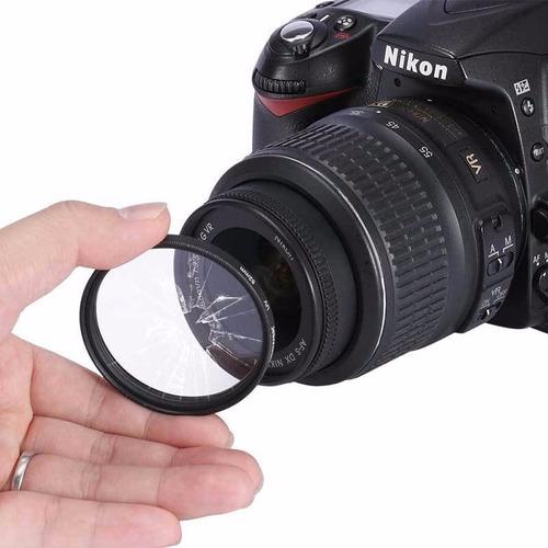filtro uv green l 77 mm protección lente +estuche