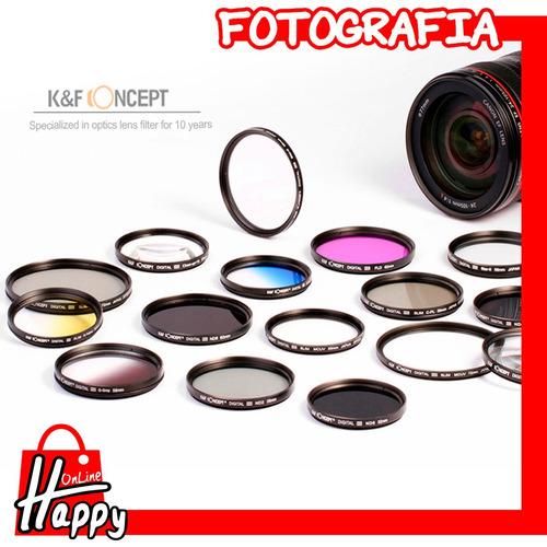 filtro uv k&f concept 52mm canon/nikon/pentax/sony