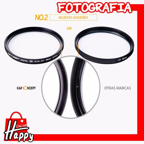 filtro uv k&f concept 58mm canon/nikon/pentax/sony