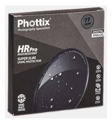 filtro uv protector hr pro ultraslim phottix p/ lente ø 62mm