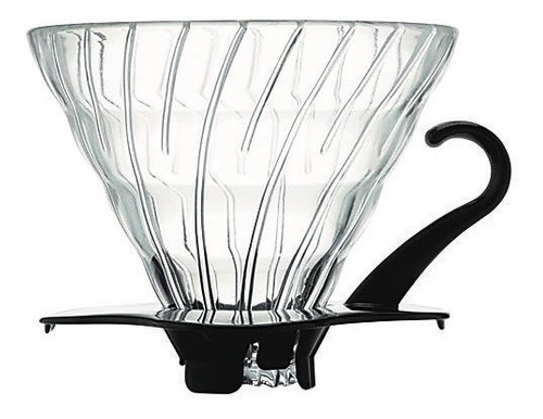 filtro v60 para cafetera en vidrio con base plástico