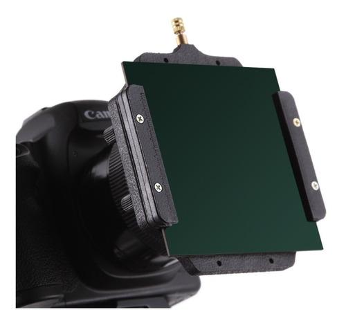 filtro vidro nd1000 3.0 100x100 + suporte c/ anel  (58mm )