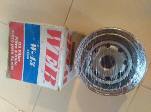 filtro web w-43 para aceite combustible gasolina