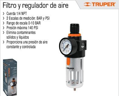 Filtro y regulador de aire truper compresor oferta 18238 - Ofertas de compresores de aire ...