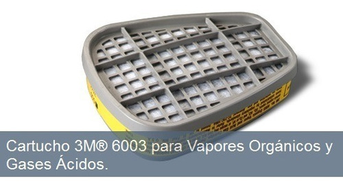 filtros 3m ref. 6003 (par) gases quimicos fumigar mineria
