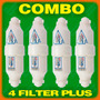 Filter Plus - Filtro Agua Combo 4 - Planta Ozono Nevera Etc.