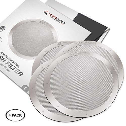 filtros de acero inoxidable reutilizables de 4 paquetes para
