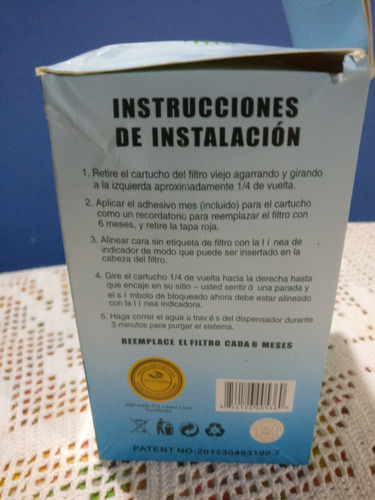 filtros de agua para neveras marca onepurify