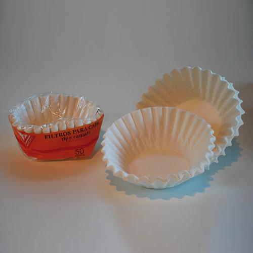 filtros de papel para cafe tipo canasta x 50 u