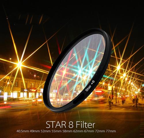 filtros estrella 8 de 58mm star 8 para canon nikon nuevo!