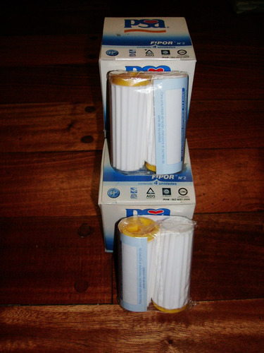 filtros fipor n°2 p/ purificadores psa caja x 2 unid.capital