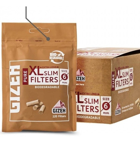 filtros gizeh pure slim x120 para armar cigarrillos ryo gize