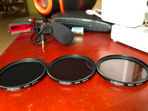 filtros nd 8 , nd4, nd2 58 mm