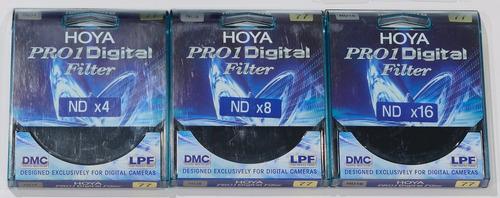 filtros nd hoya pro1 digital 77mm (3 filtros)