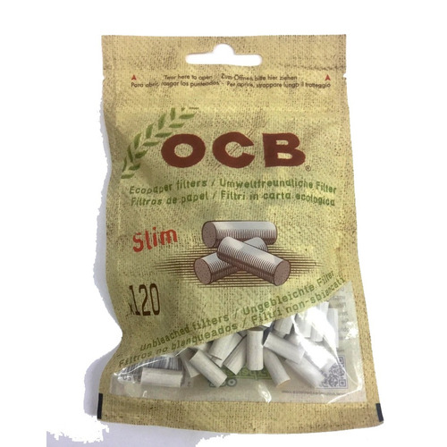 filtros ocb slim eco pack x600 biodegradable cigarrillos