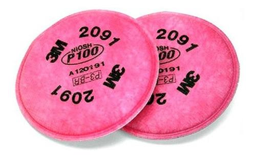 filtros p100 para mascara respiratoria marca 3m 2091