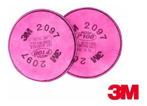 filtros p100 ref.2097 de 3m con carbon activado (par)