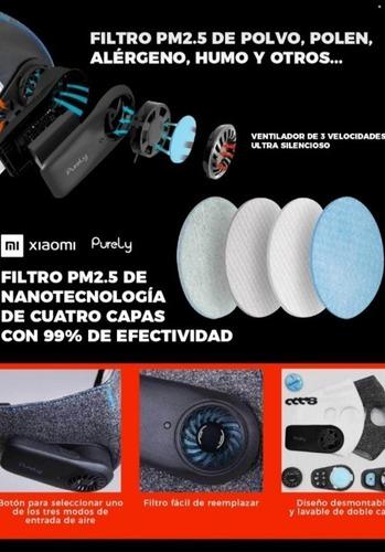 filtros para barbijo electrónico purely 2 kn95+ 4 ventilador