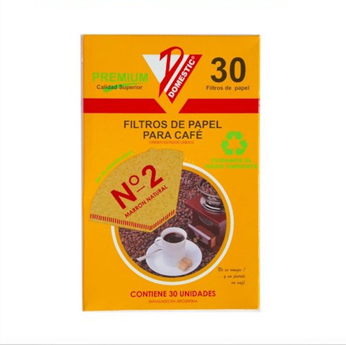 filtros para cafe domestic nro 2  clever