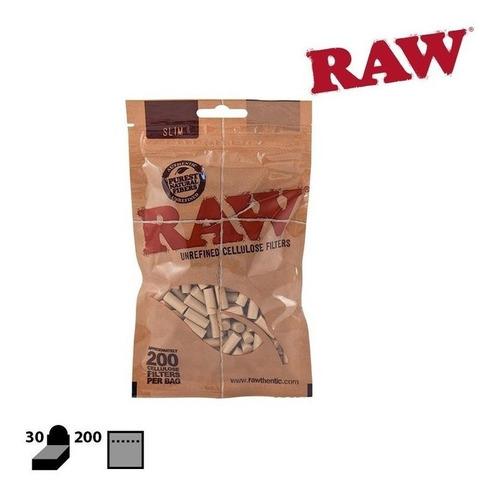 filtros raw slim 6mm celulose 200 por pacote raw original