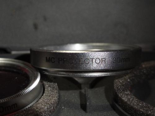 filtros sony 30mm polarizado y proteccion estuche