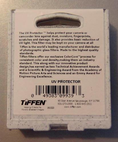 filtros tiffen uv 52 o 58mm nikon canon dsrl envio gratis