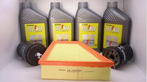 filtros vw fox 1.6 8v + óleo 5w40 100% sintético original