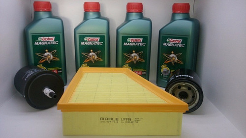 filtros vw fox 1.6 8v + óleo 5w40 castrol sintético original