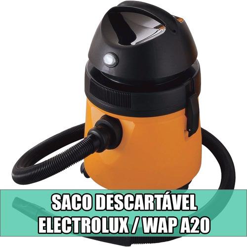 filtro/saco descartavel p/ aspirador de pó electrolux a20