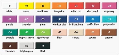 fimo arcilla polimérica p/ artesano 75 colores masa horno