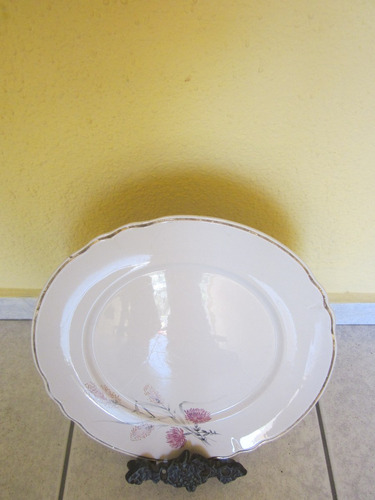 fina bandeja antigua porcelana chileware 28 cms unica
