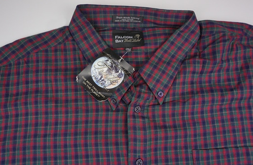 fina  camisa a cuadros  4xl  falcon bay big mens  4xlt