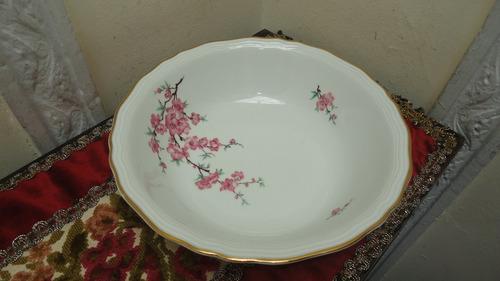 fina frutera porcelana bavaria antigua diseño floral veala