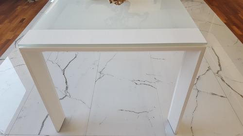 fina mesa italiana  minotti lennon extendible laca y cristal
