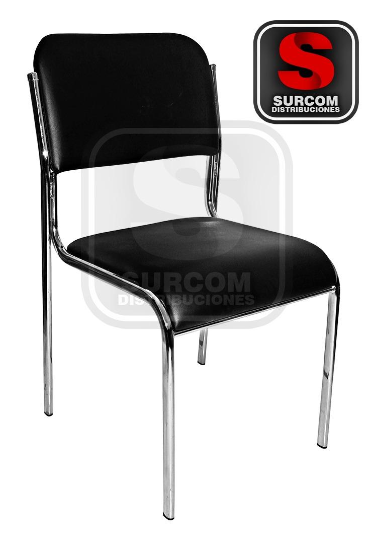Fina silla de cuerina para oficina o visita modelo w 150 for Silla para visitas oficina