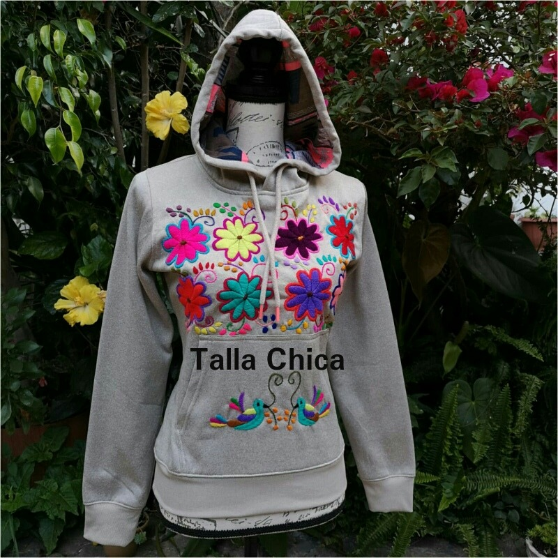 primer nivel b57fc b1476 Fina Sudadera/suéter Artesanal Bordada A Mano De Chiapas