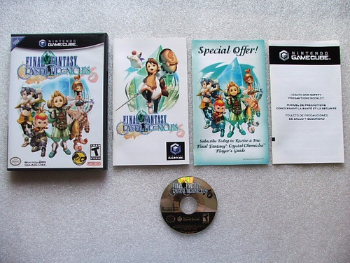 final fantasy crystal chronicles game cube original completo