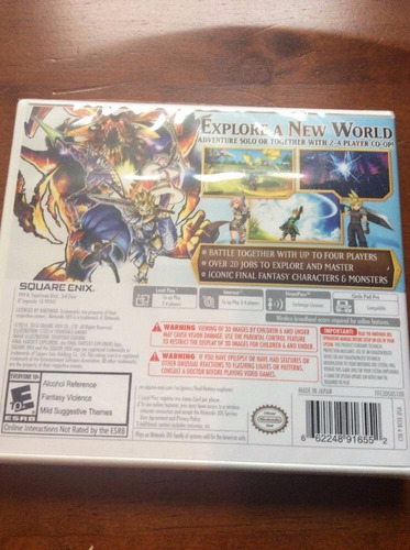 final fantasy explorers 3ds -juego -sellado