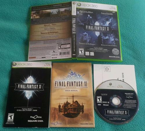 final fantasy xi online vana´diel col. * fisico  / xbox 360